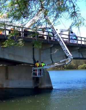 EWP Hire | Cella Underbridge Inspection Unit | Gold Coast Down Under Bridge Units